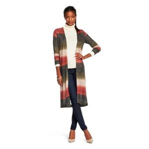 Lightweight Patterned Duster Sweater